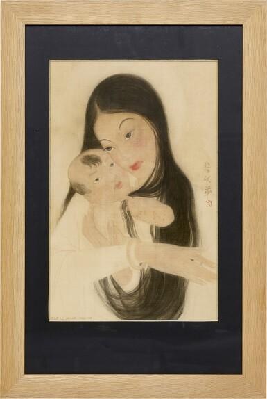 View 2. Thumbnail of Lot 232. LE VAN DE 黎文第   MOTHER AND CHILD 母子.