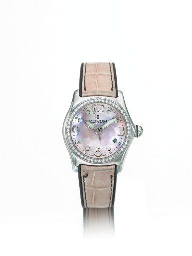 CORUM | REF 39.151.47,  A STAINLESS STEEL AND DIAMOND SET CENTER SECONDS WRISTWATCH WITH DATE CIRCA 2005