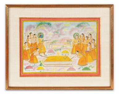 View 12. Thumbnail of Lot 39. RAJASTHAN AND NORTHERN INDIA, LATE 18TH CENTURY - EARLY 19TH CENTURY | SIX INDIAN MINIATURES .