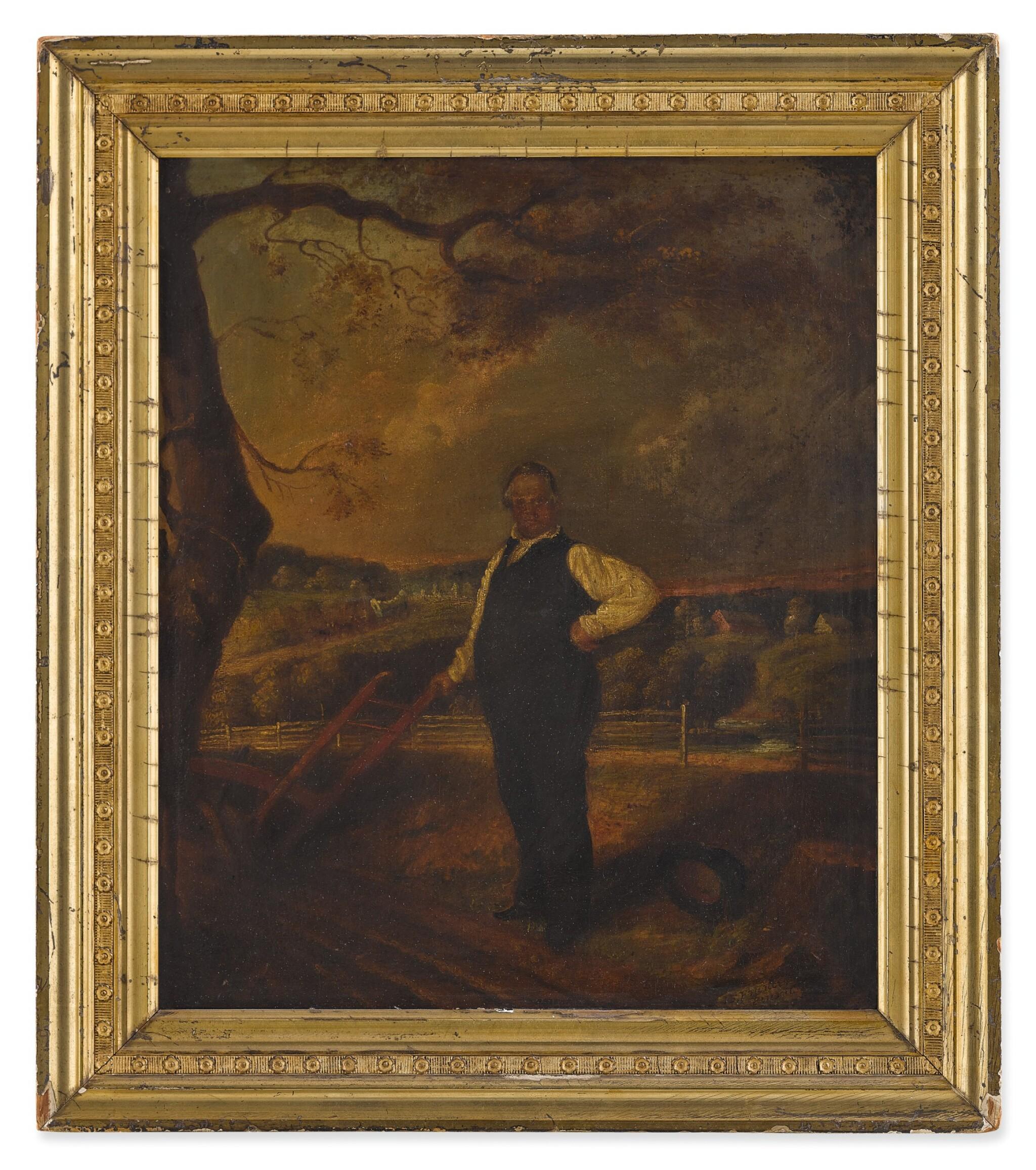 View full screen - View 1 of Lot 17. John F. Francis, Portrait of Joseph Ritner.