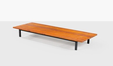 CHARLOTTE PERRIAND   BENCH, CIRCA 1961-1962 [BANQUETTE, VERS 1961-1962]