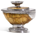 A SILVER MOUNTED TORTOISE CUP AND COVER/STAND, POSSIBLY SCOTTISH, CIRCA 1690