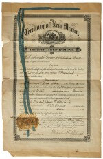 Garrett, Pat. Two documents signed April and 1 June 1898, relating to the murders of Albert J. Fountain