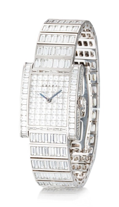 View 2. Thumbnail of Lot 1043. Reference WT4787 Exceptional White Gold and Baguette Diamond-Set Wristwatch | 格拉夫| 編號REF WT4787,超凡白金鑲方形鑽石腕表,約2010年製.