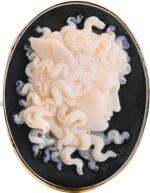 ATTRIBUTED TO LUIGI SAULINI (1819-1883), ITALIAN, MID-19TH CENTURY   CAMEO WITH MEDUSA