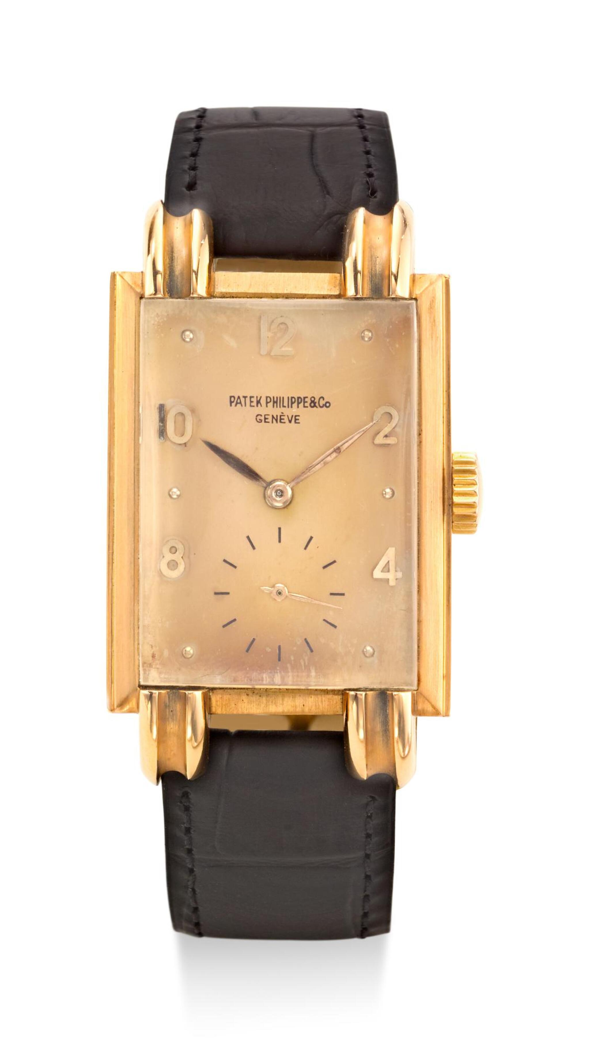 View full screen - View 1 of Lot 8108. PATEK PHILIPPE | REF 1480, A PINK GOLD WRISTWATCH, MADE IN 1947.