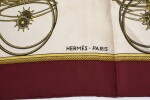 Printed silk scarf 'Les Voitures a Transformation', Hermès