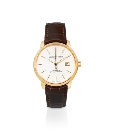 ULYSSE NARDIN | CLASSICO, PINK GOLD WRISTWRATCH WITH DATE, CIRCA 2018 [CLASSICO, MONTRE EN OR ROSE AVEC DATE]