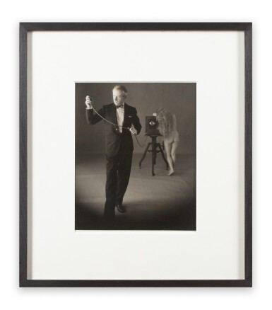 View 2. Thumbnail of Lot 15. Irving Penn   Cecil Beaton with Nude, New York, 1946 .