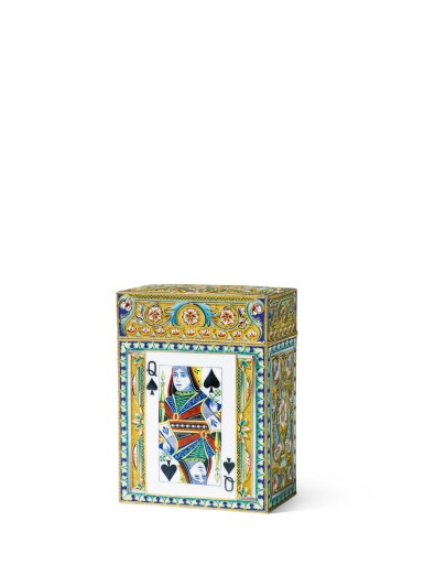 A silver-gilt and closionné enamel card case, 11th Artel, Moscow, 1908-1917