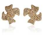 Pair of diamond ear clips, Michele della Valle