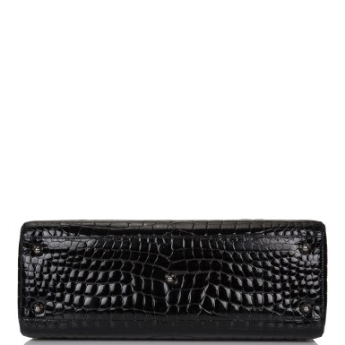 View 6. Thumbnail of Lot 105. CHRISTIAN DIOR    BLACK SHINY NILOTICUS CROCODILE LARGE LADY DIOR BAG WITH RUTHENIUM HARDWARE.