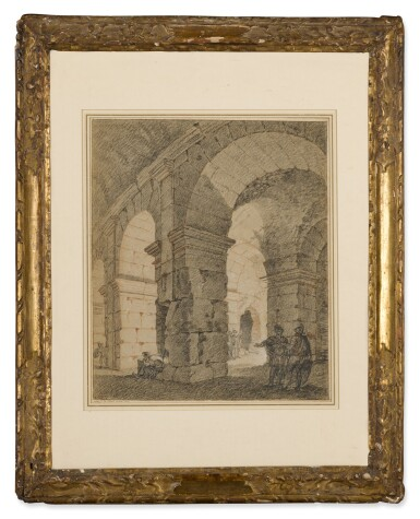 View 3. Thumbnail of Lot 147. Soldiers standing within an architectural ruin.