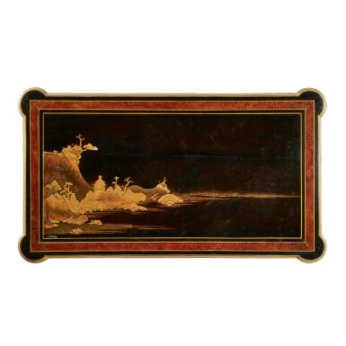 View 2. Thumbnail of Lot 179. A LOUIS XVI GILT BRONZE-MOUNTED EBONY AND JAPANESE LACQUER CENTRE TABLE BY LEVASSEUR, LATE 18TH/EARLY 19TH CENTURY.