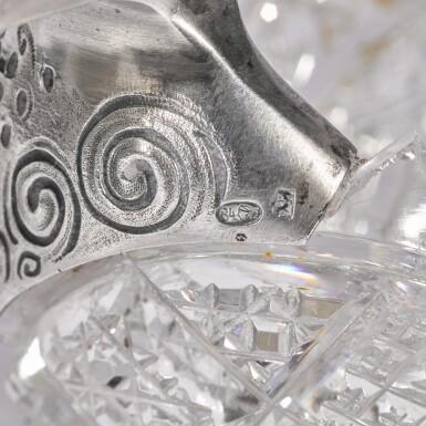 View 3. Thumbnail of Lot 100. Two gem-set, silver-gilt and cut-glass kovshi, Ivan Khlebnikov, Moscow, 1908-1917.
