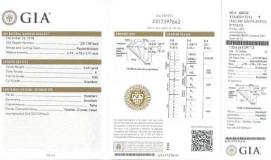View 4. Thumbnail of Lot 12. PAIR OF DIAMOND STUDS, EACH WEIGHING 0.40 CARAT.