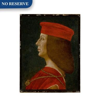 View 1. Thumbnail of Lot 9. Profile portrait of a condottiero.