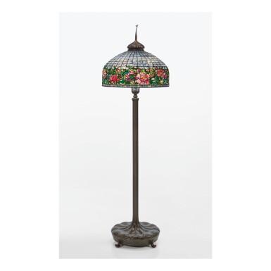 "TIFFANY STUDIOS | ""PEONY BORDER"" FLOOR LAMP"