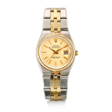 ROLEX | DATEJUST, REFERENCE 1630 A YELLOW GOLD AND STAINLESS STEEL BRACELET WATCH WITH DATE, CIRCA 1978