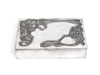 A silver cigar box, unknown workmaster, Moscow, 1908-1917