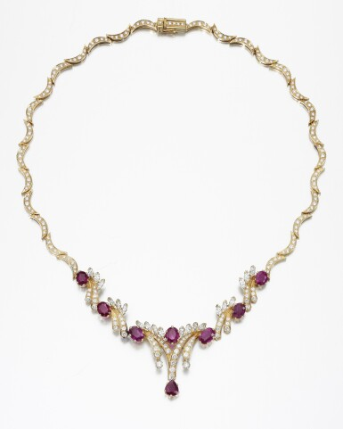 RUBY AND DIAMOND NECKLACE, W. A. BOLIN