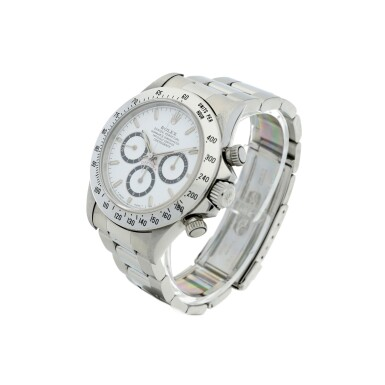 View 2. Thumbnail of Lot 18. ROLEX   REFERENCE 16520 'ZENITH' DAYTONA A STAINLESS STEEL AUTOMATIC CHRONOGRAPH WRISTWATCH WITH BRACELET, CIRCA 1994.