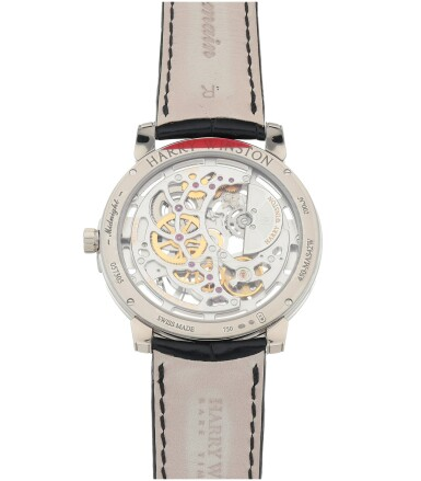 View 4. Thumbnail of Lot 540. Midnight, Ref. 450-MAS42W White gold skeletonized wristwatch Circa 2015   海瑞溫斯頓 450-MAS42W型號「Midnight」白金鏤空腕錶,年份約2015.