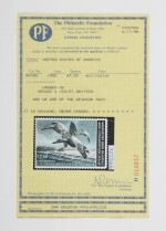 Hunting Permits 1982 $7.50 Multicolored Orange and Violet Omitted (RW49a)