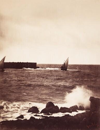 View 1. Thumbnail of Lot 26. 'La Vague Brisée, Mer Méditeranée No 15', (The Breaking Wave), 1857.