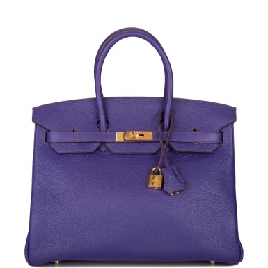 View 1. Thumbnail of Lot 19. Hermès Iris Birkin 35cm of Togo Leather with Gold Hardware.