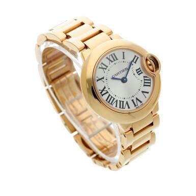 View 3. Thumbnail of Lot 20. Reference 3007 Ballon Bleu A pink gold wristwatch with bracelet, Circa 2015 .