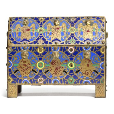 View 1. Thumbnail of Lot 11. French, 19th century, In Limoges, 13th century Style | Casket.