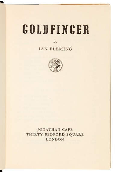 View 5. Thumbnail of Lot 37. FLEMING | Goldfinger, 1959, first edition, presentation copy inscribed to Raymond Chandler.