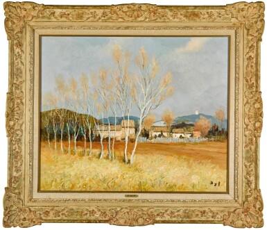 View 2. Thumbnail of Lot 63. Peupliers en Provence à Maussane.