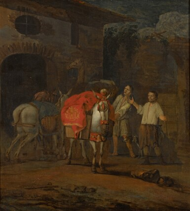 View 1. Thumbnail of Lot 15. ABRAHAM DOORNBOS | The Adoration of the Mule.