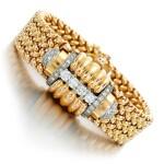 Eska   Diamond watch/bracelet, 1950s