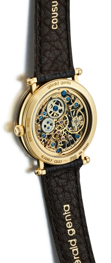 View 3. Thumbnail of Lot 107. GERALD GENTA | GEFICA, REFERENCE G.3290.7 A YELLOW GOLD WRISTWATCH, CIRCA 1995.