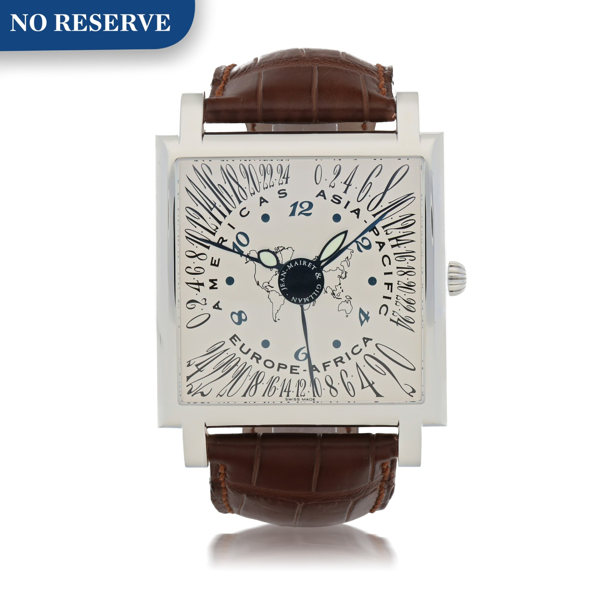 View full screen - View 1 of Lot 419. CONTINENTES STAINLESS STEEL MULTI TIME-ZONE WRISTWATCH CIRCA 2005.