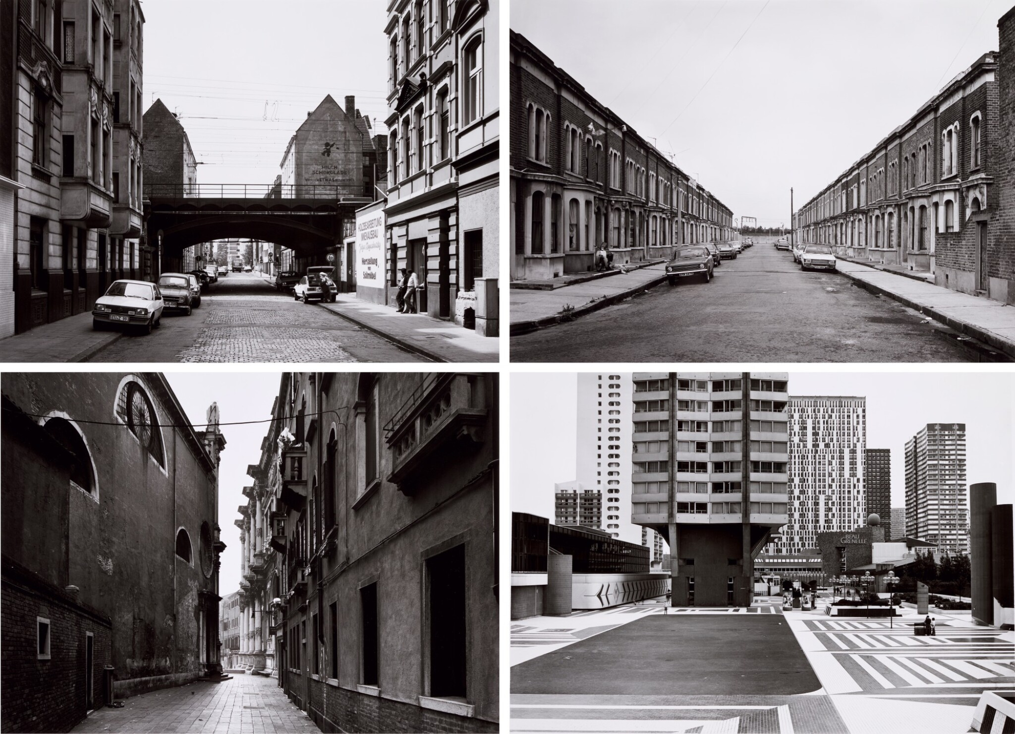 View full screen - View 1 of Lot 36. 'Clinton Road', Murdock Cottages, London, 1977; 'Panorama 2', Beaugrenelle, Paris, 1979; 'Gereonswall', Koln, 1980; 'Calle Tintoretto', Venezia, 1990.