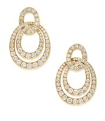 DAVID WEBB | PAIR OF GOLD AND DIAMOND EARCLIPS