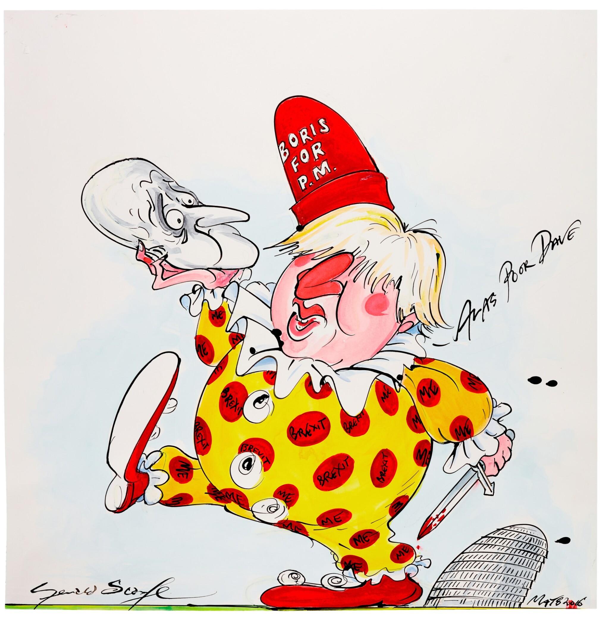 "SCARFE | [THE 2010s] | ""Alas Poor Dave"" [David Cameron and Boris Johnson]"