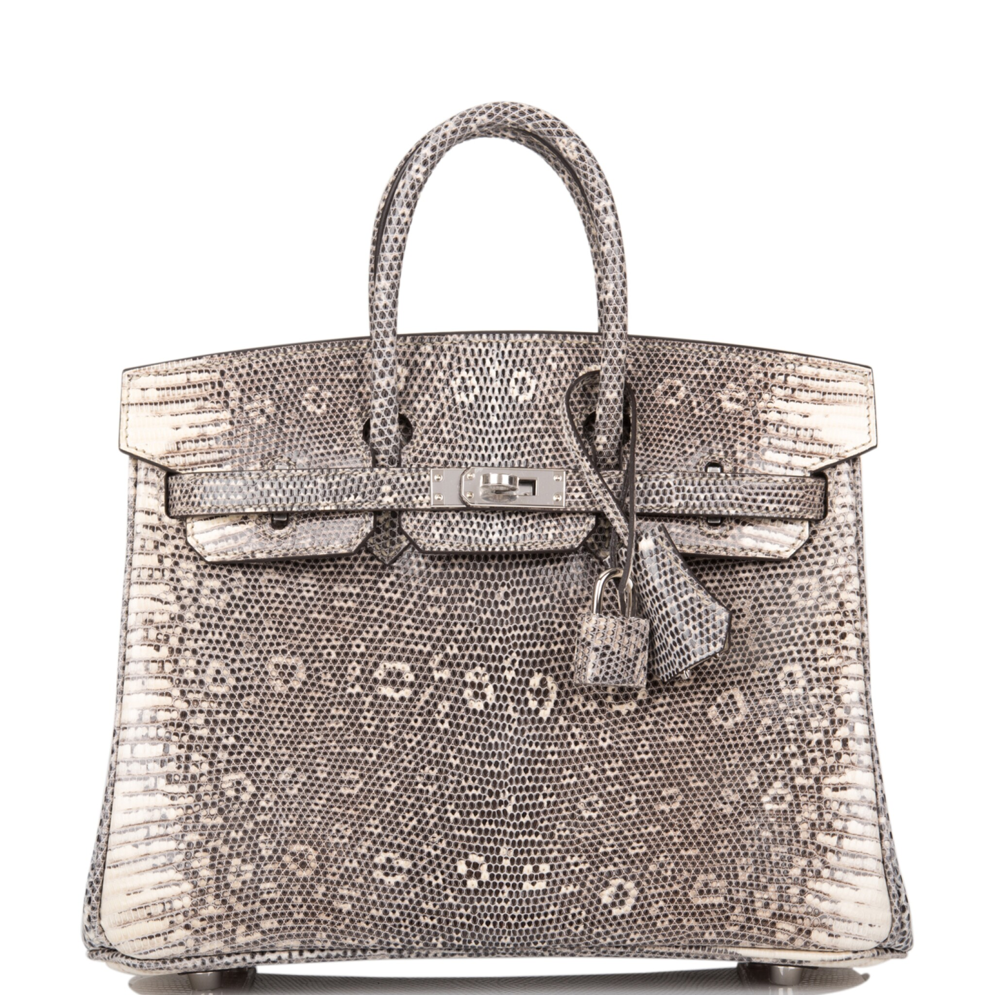 View 1 of Lot 2. Hermès Ombre Birkin 25cm of Varanus Salvator Lizard with Palladium Hardware.