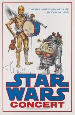 STAR WARS CONCERT POSTER, JOHN ALVIN, 1978, SIGNED BY JOHN WILLIAMS