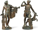 PROBABLY ENGLISH, MID-19TH CENTURY AFTER THE ANTIQUE  | APOLLO BELVEDERE AND DIANE CHASSERESSE