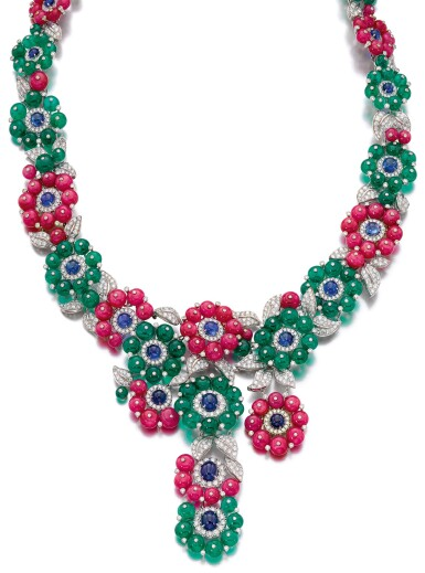 View 1. Thumbnail of Lot 91.  MICHELE DELLA VALLE | GEM SET AND DIAMOND NECKLACE.