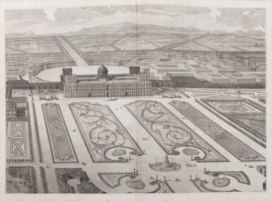 View 5. Thumbnail of Lot 65. Dichiarazione dei Disegni del reale Palazzo di Caserta. Naples, 1756. In-folio. Reliure de l'époque..