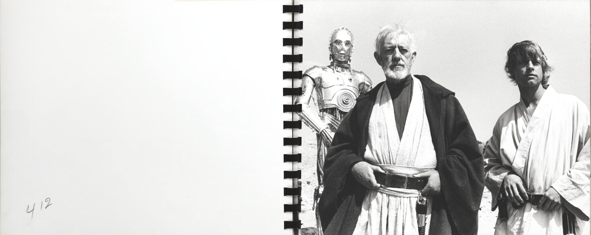 STAR WARS, SPIRAL BOUND ALBUM CONTAINING 52 ORIGINAL PHOTOGRAPHS, 1977