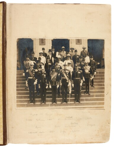 View 2. Thumbnail of Lot 157. Ethiopia | Album of photographs and press cuttings relating to the Coronation of Haile Selassie, November 1930.
