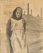 Original Drawing for the Print 'La Grève'