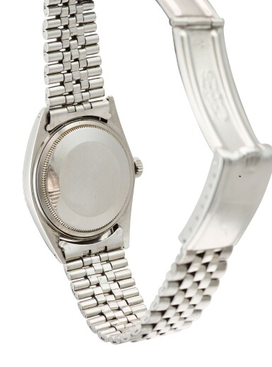 View 3. Thumbnail of Lot 608. ROLEX | DATEJUST REFERENCE 1603 A STAINLESS STEEL WRISTWATCH WITH DATE AND BRACELET, CIRCA 1969.